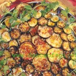 Seared Zesty Zucchini-Eggplant With Sesame