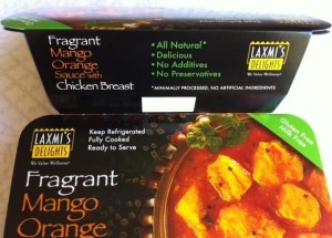 Laxmi's Delights Mango Chicken side panel